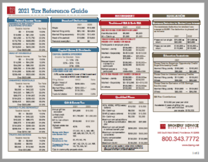 2021 Tax Reference Guide PDF Image